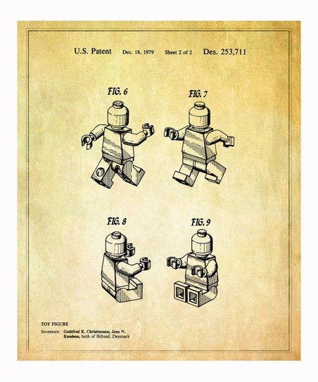 Lego 'Toy Figure' 2 1979 Art Print