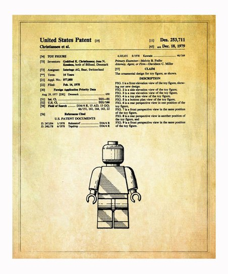 Lego 'Toy Figure' 3 1979 Art Print