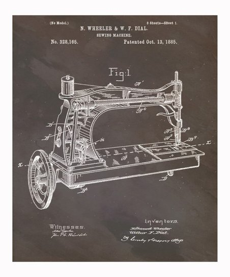 'Sewing Machine' 1885 Art Print