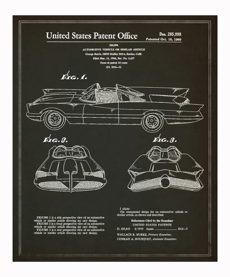 Batmobile 1966 Art Print