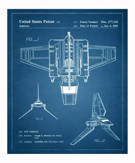 Imperial Shuttle 1985 Art Print