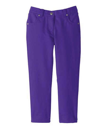 Perfect Purple Not So Skinny Knit Jeans - Infant, Toddler & Girls