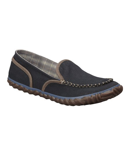 Black Tremblant Canvas Moccasin - Women