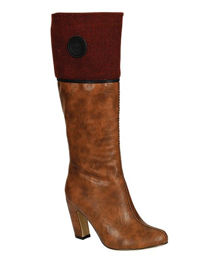 Camel Alta Button Boot