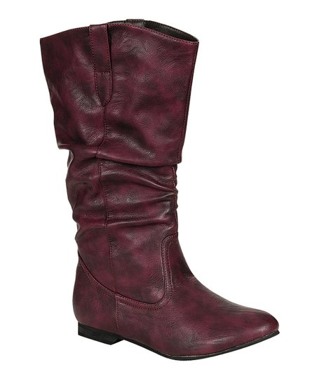 Burgundy Art Slouch Boot