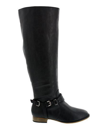 Black Ankle Buckle Carison Boot