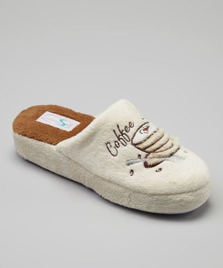 Cream Coffee Lover Slipper