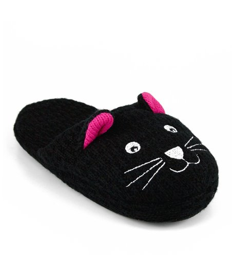 Black Cat Slipper