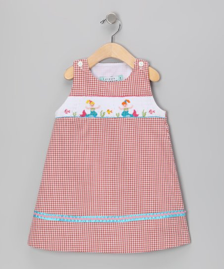 Brick Mermaid Smocked Dress - Toddler