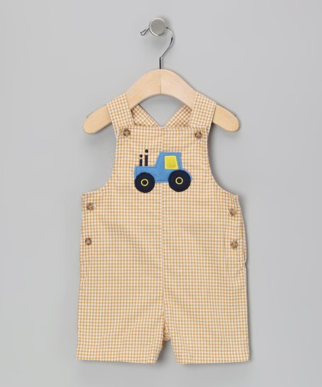 Mustard Tractor Shortalls - Infant