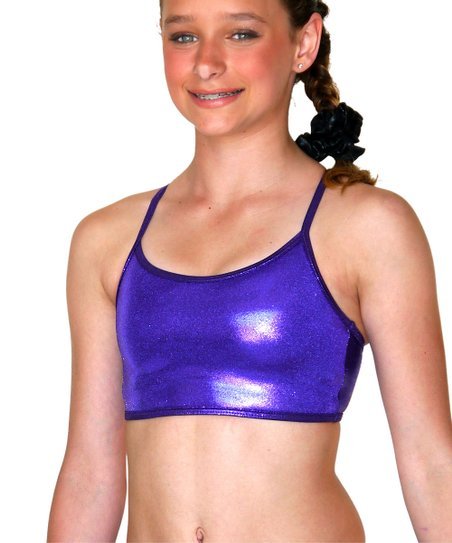 Purple Mystique Gym Star Sports Bra – Girls
