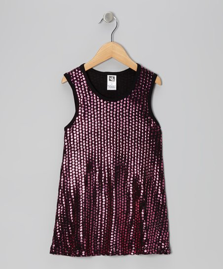 Metallic Pink Sequin Dress - Toddler