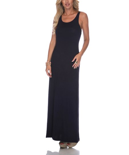 Navy Racerback Maxi Dress - Women