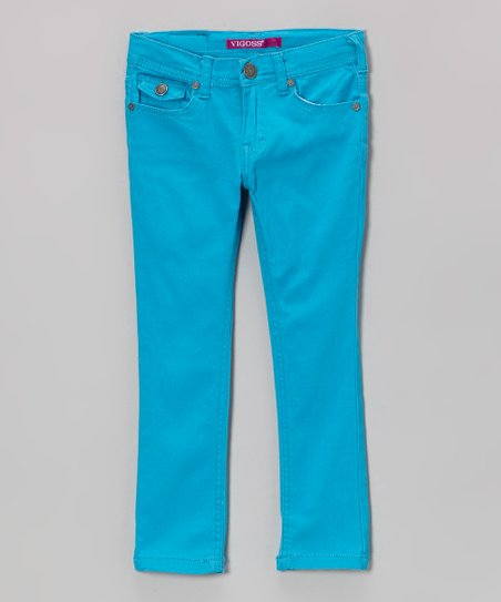 Electric Blue Gemini Skinny Jeans - Girls