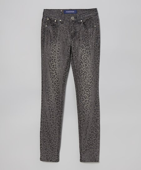 Moonlight My Leopard Skinny Jeans - Girls