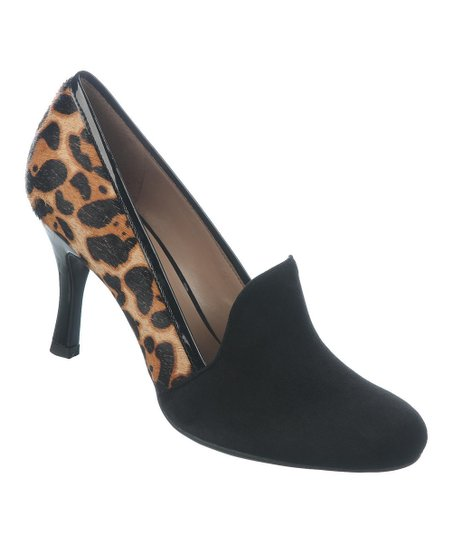 Honey & Black Pony Hair Riva Pump