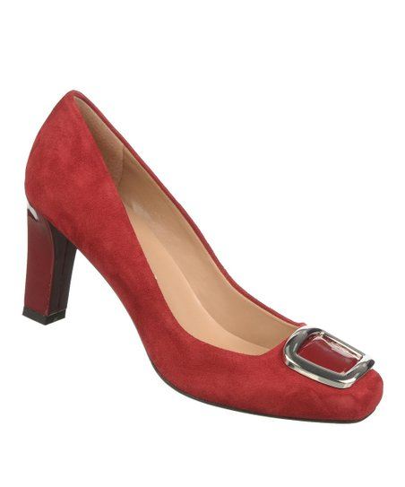 Rose Red Suede Ursa Pump