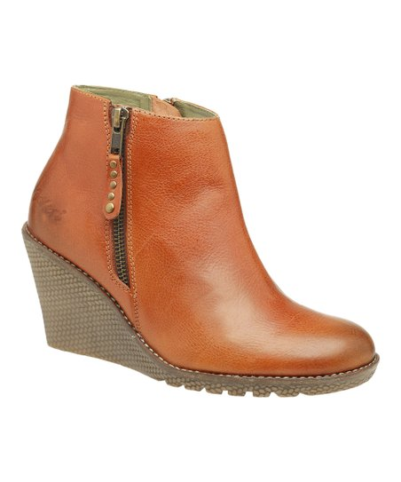 Camel Herboot Wedge Bootie - Women