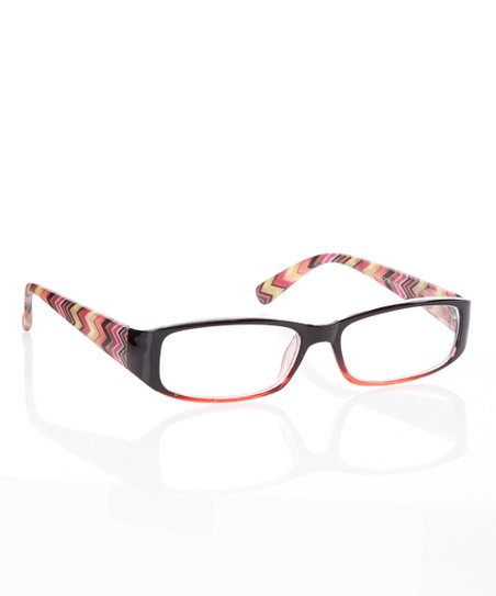 Black & Red Zigzag Readers