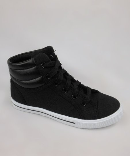 Black & White Perla-11K Hi-Top Sneaker