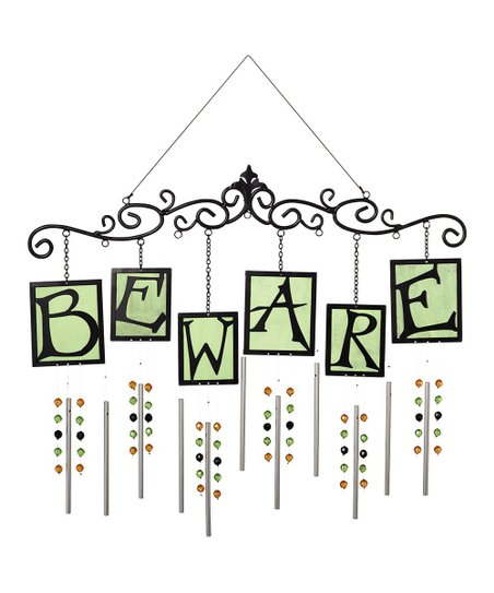 'Beware' Wind Chime