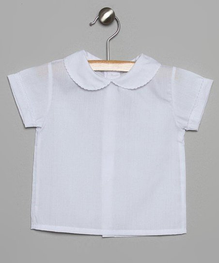 White Picot Collar Top - Infant & Toddler