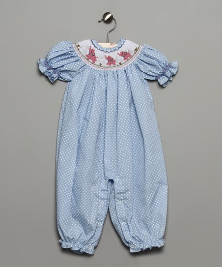 Blue Elephant Bubble Playsuit - Infant & Toddler