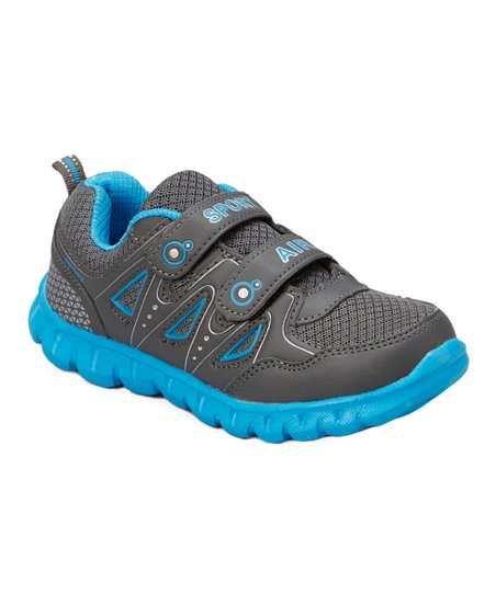 Gray & Light Blue Sport Air Running Shoe