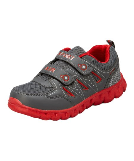 Gray & Red Sport Air Running Shoe