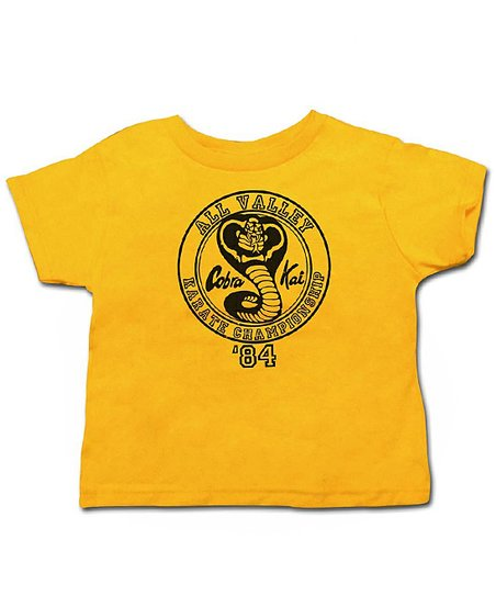 Gold 'Cobra Kai' Tee - Toddler & Kids