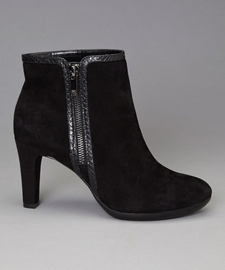 Black Suede Caelina Ankle Boot