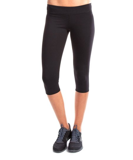 Black Heartbreaker Capri Leggings