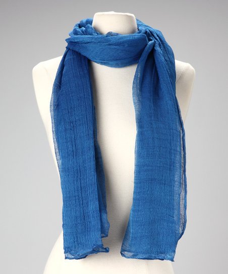 Dark Blue Cotton Scarf