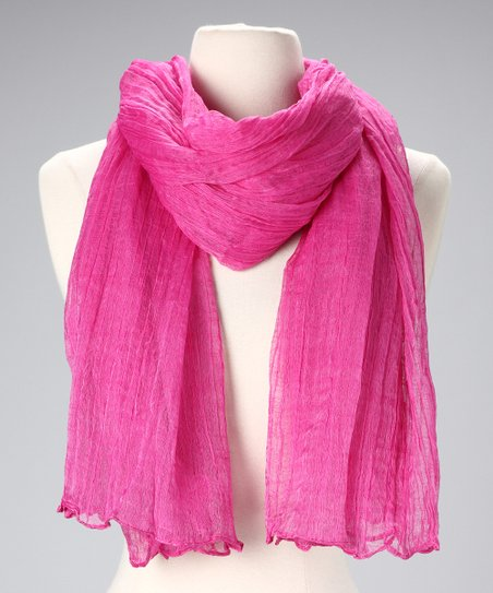 Fuchsia Cotton Scarf