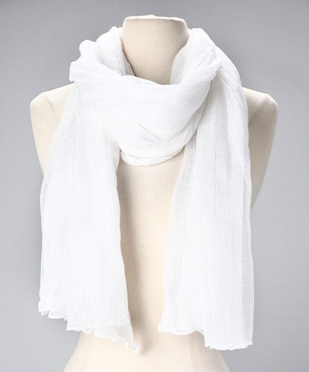 White Cotton Scarf