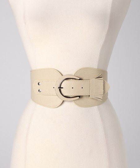 Ivory Fringe Stretch Belt
