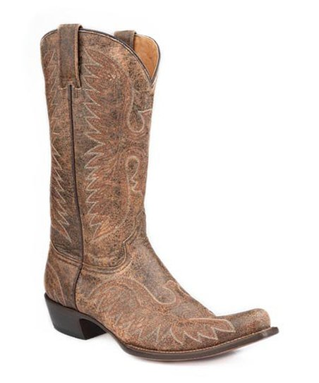 Terra Cafe Eagle Stitch Cowboy Boot - Men
