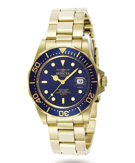 Yellow Gold & Blue Pro Diver Watch - Men