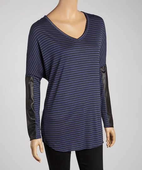 Evening & Black Stripe Dolman Top