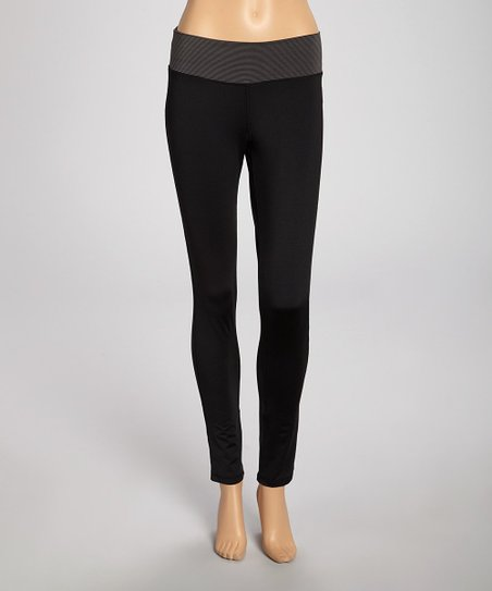 Black Athletic Stripe Leggings
