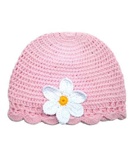 Light Pink Crochet Cloche Beanie