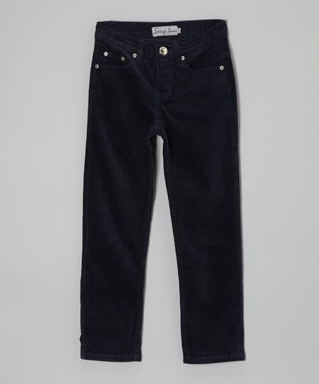 Navy Corduroy Pants - Girls
