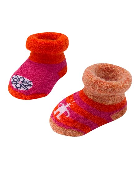 Peony Bootie Batch Wool-Blend Socks Set - Kids
