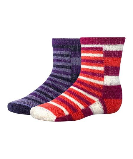 Berry & Grape Tots Wool-Blend Socks Set - Kids