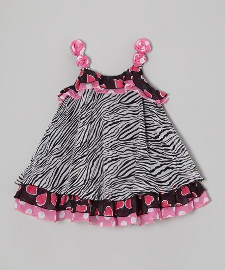 Pink Heart & Zebra Top - Toddler & Girls