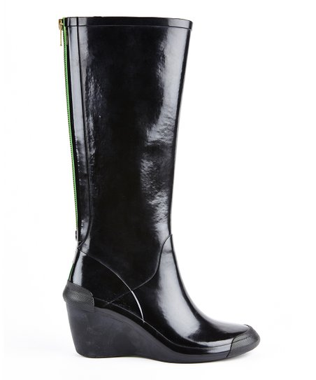 Black Patent Epic Wedge Boot