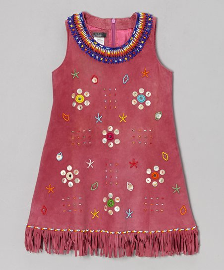 Pink Embellished Leather Dress - Toddler & Girls