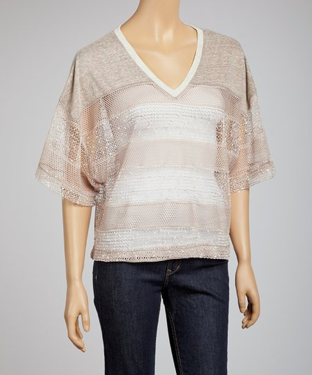Heather Crochet Dolman Top