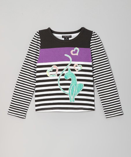 Black Stripe Top - Toddler & Girls