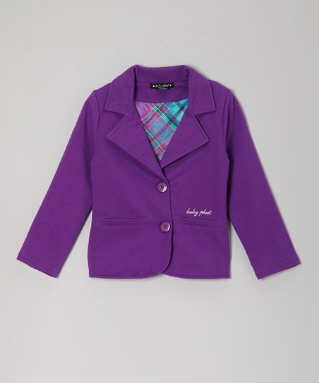 Royal Purple Blazer - Toddler & Girls